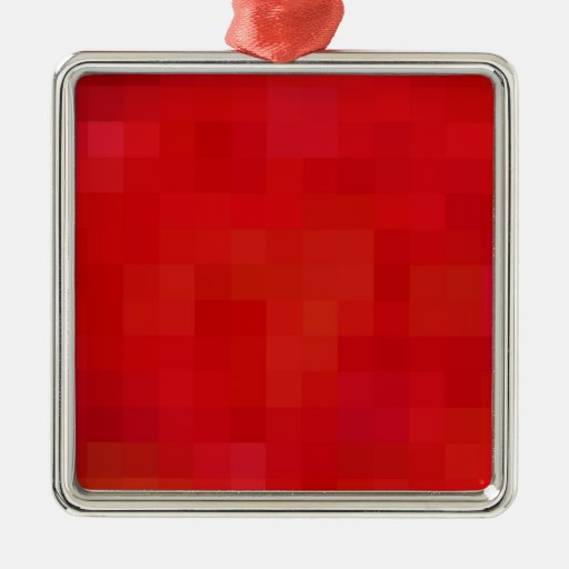 Re-Created Coloured Squares Square Metal Christmas Ornament