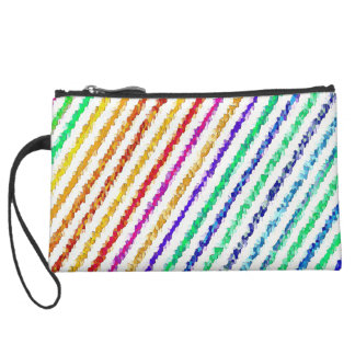 Re-Created Crystal Field Suede Wristlet Wallet