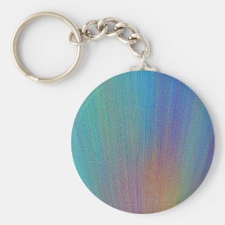 Re-Created Feather by Robert S. Lee Basic Round Button Keychain