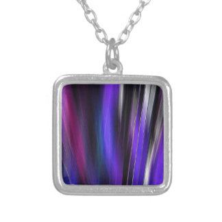 Re-Created Feather ix by Robert S. Lee Square Pendant Necklace