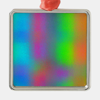 Re-Created Frost Square Metal Christmas Ornament