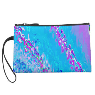Re-Created Infinity Pool Suede Wristlet