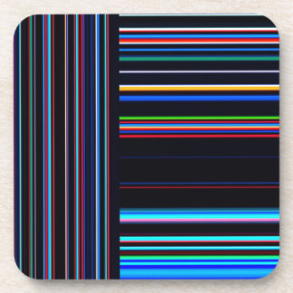 Re-Created Lines & Stripes by Robert S. Lee Drink Coaster