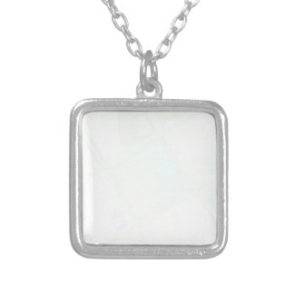 Re-Created Mirrored SQ by Robert S. Lee Silver Plated Necklace