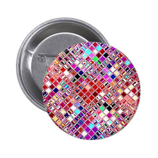 Re-Created Mosaic Pinback Button
