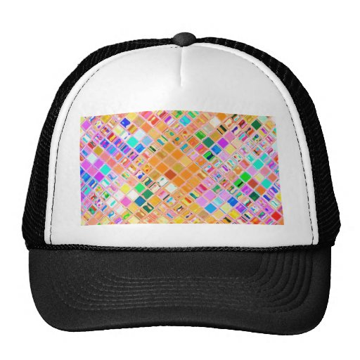 Re-Created Mosaic Trucker Hats