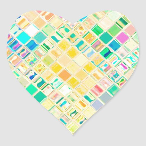 Re_Created Mosaic Heart Sticker