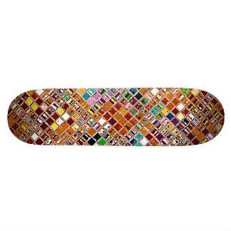 Re-Created Mosaic Skateboard