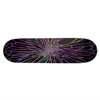 Re-Created Night Blossom by Robert S. Lee Skateboard Deck