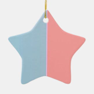 Re-Created ONE Double-Sided Star Ceramic Christmas Ornament
