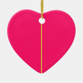 Re-Created ONE Double-Sided Heart Ceramic Christmas Ornament