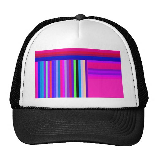 Re-Created Parquet Mesh Hats