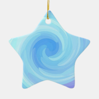 Re-Created Rrose Double-Sided Star Ceramic Christmas Ornament