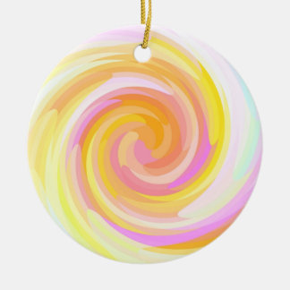 Re-Created Rrose Double-Sided Ceramic Round Christmas Ornament