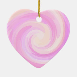 Re-Created Rrose Double-Sided Heart Ceramic Christmas Ornament