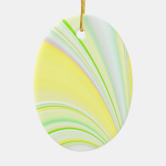 Re-Created Slide Double-Sided Oval Ceramic Christmas Ornament
