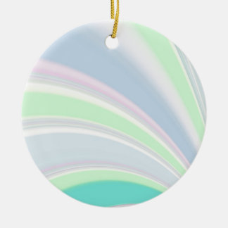 Re-Created Slide Double-Sided Ceramic Round Christmas Ornament