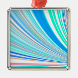 Re-Created Slide Square Metal Christmas Ornament