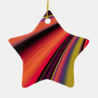 Re-Created Slide Double-Sided Star Ceramic Christmas Ornament