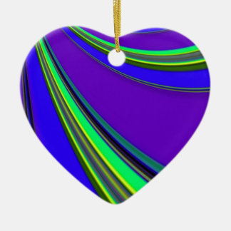 Re-Created Slide Double-Sided Heart Ceramic Christmas Ornament