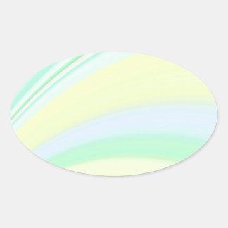 Re-Created Slide Oval Sticker