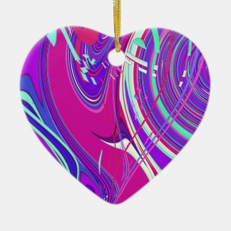 Re-Created Sour Candy by Robert S. Lee Double-Sided Heart Ceramic Christmas Ornament