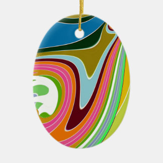 Re-Created Sour Candy by Robert S. Lee Double-Sided Oval Ceramic Christmas Ornament