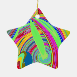 Re-Created Sour Candy by Robert S. Lee Double-Sided Star Ceramic Christmas Ornament
