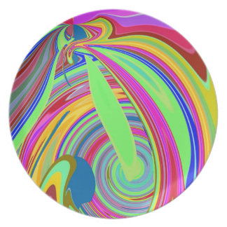 Re-Created Sour Candy by Robert S. Lee Melamine Plate