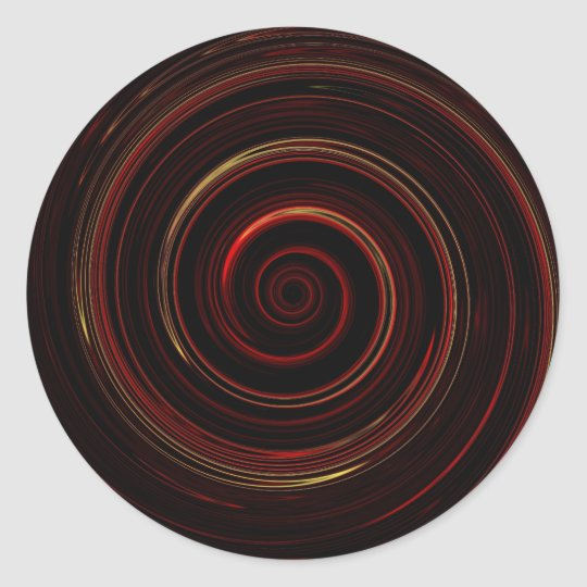 Re-Created Spin Painting Classic Round Sticker