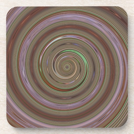 Re-Created Spin Painting Coasters