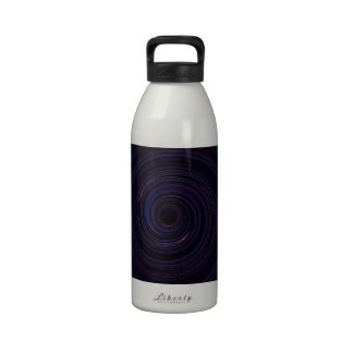Re-Created Spin Painting Drinking Bottle