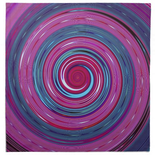 Re-Created Spin Painting Napkin