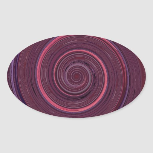 Re-Created Spin Painting Oval Sticker