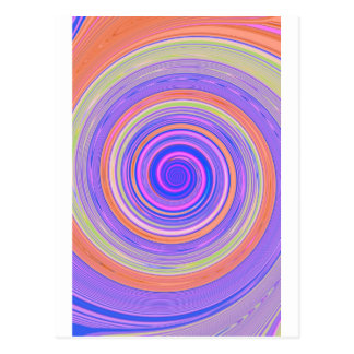 Re-Created Spin Painting Postcard