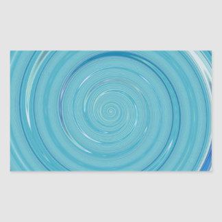 Re-Created Spin Painting Rectangular Sticker