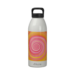 Re-Created Spin Painting Reusable Water Bottle