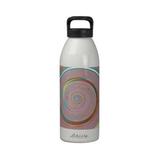 Re-Created Spin Painting Reusable Water Bottles