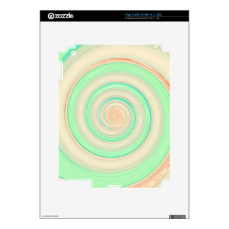 Re-Created Spin Painting iPad 2 Skin