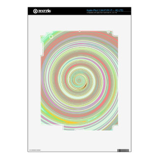Re-Created Spin Painting iPad 3 Decal