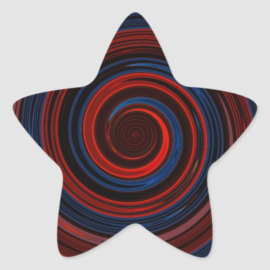 Re-Created Spin Painting Star Sticker