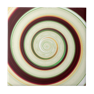 Re-Created Spin Painting Tile