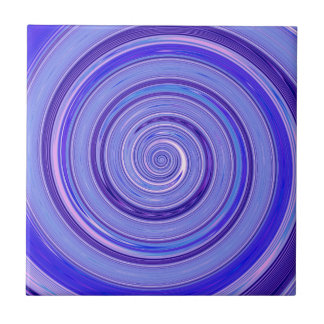Re-Created Spin Painting Ceramic Tiles