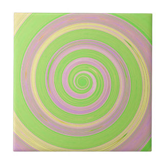 Re-Created Spin Painting Tiles