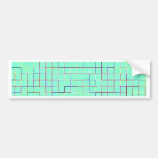 Re-Created Squares Bumper Sticker