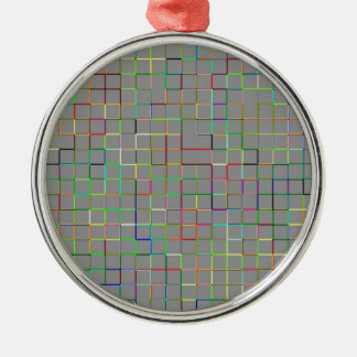 Re-Created Squares Metal Ornament
