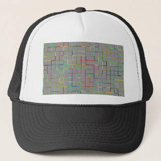 Re-Created Squares Trucker Hat