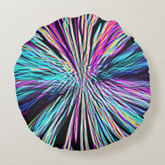 Re-Created Supernova by Robert S. Lee Round Pillow