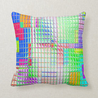 Re-Created Swatches Throw Pillow