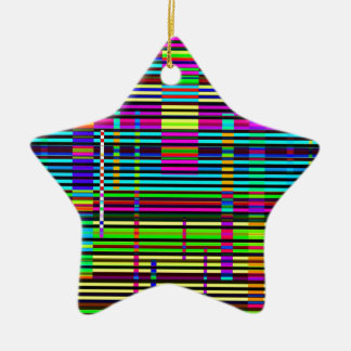 Re-Created Urban Landscape Double-Sided Star Ceramic Christmas Ornament